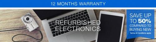 Refurbished Technology on eBay upto 50% off + 12m Warranty