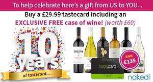 Buy a £29.99 Tastecard including an exclusive free case of wine (£4.99 P&P) - £34.98 (worth £60)