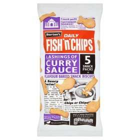 Burton's Fish'n'Chips - 5 snack packs 42p in Tesco - curry sauce flavour