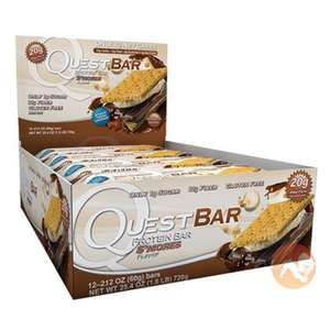 Quest Protein Bars - Short Dated - Mint Choc & S'mores Flavours £17.98 @ Predator Nutrition