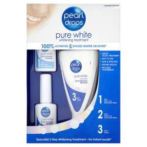 Pearl drops whitening kit half price at Tesco was £25 now £12.50