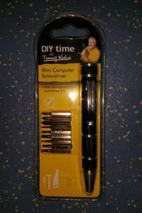 """""""Tommy Walsh"""" Mini Computer Screwdriver With Nine Chrome Vanadium Bits In Store & Online £1 @ Poundland"""