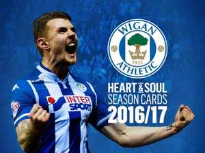 Wigan Athletic Season Ticket 2016-17 season £199