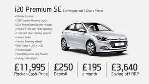 Hyundai i20 Premium SE £3,640 off RRP £11995.00 rockar