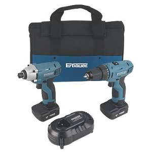 erbauer twin pack 10.8v drill and impact driver 4.0ah £103.99 @ Screwfix - free c&c / Del