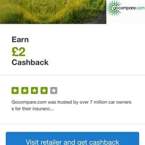 £2 cash back for simply doing a Gocompare car insurance quote through quidco