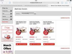 Morphy Richards King Size Washable Fleece Heated Mattress Cover £46.74 @ morphyrichards.com