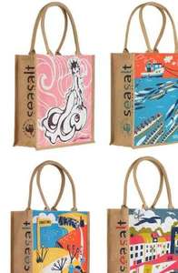 Charity Jute Bags Raising Funds For The Fishermans' Mission 2 for £8 or £5 each plus £1 Delivery at Seasalt Cornwall