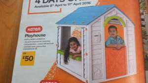Keter Playhouse - Kids great for summer! £50 @ B&Q