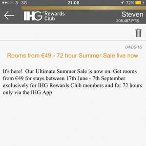 IHG Hotel Summer Sale - Holiday Inn and Crowne Plaza rooms from £39 @ IHG