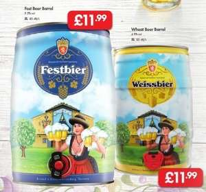Authentic German Beer LIDL - Fest Beer 500ml can 5.5%vol 99p - Barrels (5L) £11.99  Fest Beer 5.5%vol/Wheat Beer 4.9%vol - April 14th