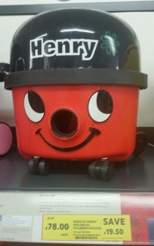Numatic Henry Hoover £78, Numatic Hetty £79.60 Cylinder Vacuum @ Tesco