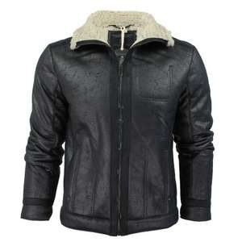 Mens Brave Soul 'Spitfire' Aviator Jacket/ Coat Mens Faux Fur Trim £24.99 @ Amazon (Prime Lightening Deal)