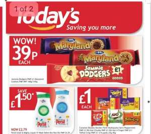 Jammie Dodgers &  Maryland cookies only 39p at Todays