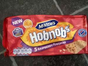 Mcvities Raspberry Flapjack Hobnobs Pack of 5 individually wrapped were £1.40 ASDA in store only