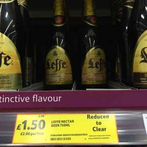 Leffe Nectar beer 750ml Hardengreen £1.50 Tesco