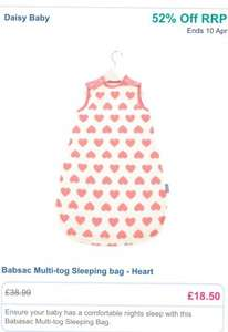 Babasac multi tog sleeping bag £18.50 with code DB400 from daisybabyshop.co.uk usually £38.99