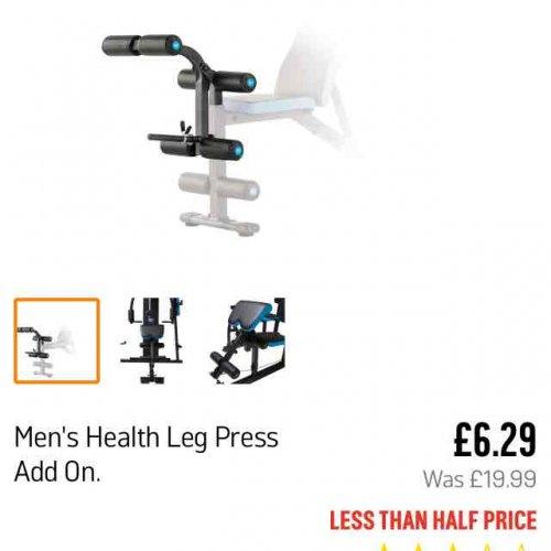 Men's Health Leg Press Add On £6.29 from Argos