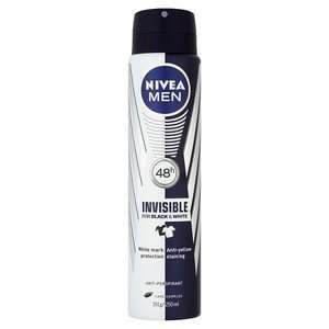 Nivea deodorant bodyspray from £1.61 & sticks from £1.23 less than half price @ Superdrug