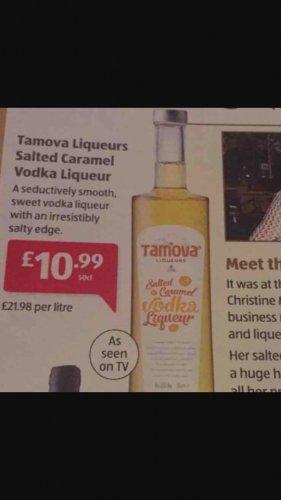 Tamova Liqueurs Salted caramel Vodka Liqueur 50cl £10.99 at Aldi Pontefract