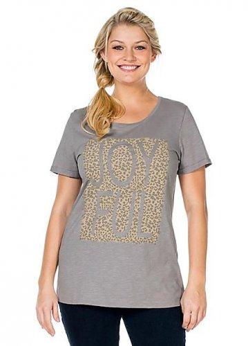 Womens joyful leopard print logo tshirt sizes 14-24 left was £25 now £4.50 @ Freemans