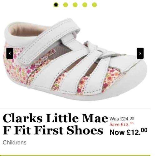 Clarks shoes at Jones Bootmaker now half price