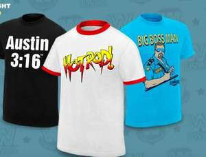 Flash Sale - 40% Off WWE Legend Tees from £5.90 @ WWE Euroshop
