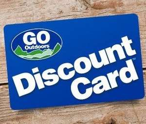 """Go Outdoors"" Discount Card - Free of Charge"
