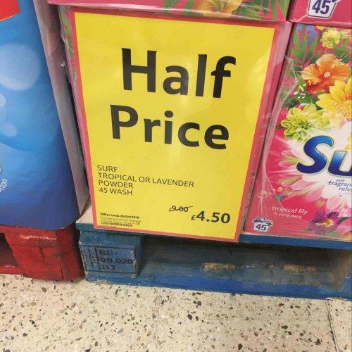 surf 45 washes half price £4.50 @ Tesco