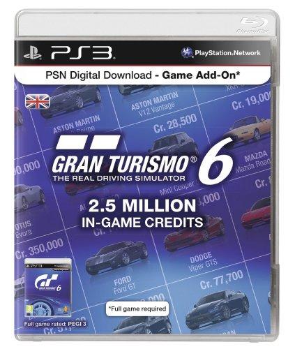 2.5 Million Gran Turismo 6 In Game Credits £2.99 [£3.98 Non Prime] (Worth £15.99) @ Amazon