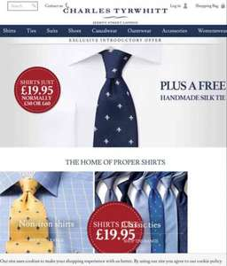 Charles Tyrwhitt shirts and tie £19.95 + £4.95 delivery