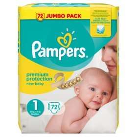 Pampers size 1 jumbo pack (72) at Asda for £6