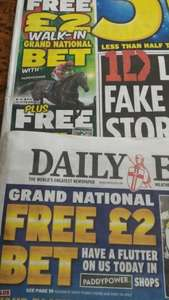 2x£2 bets for grand national in Daily Express / Star 75p