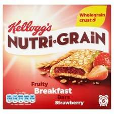 Kelloggs Nutrigrain Strawberry/Apple/Various snack bar  6X37g £1.99, two for £2, Tesco online and instore.