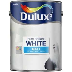 Dulux pure brilliant white 5L matt/silk/soft sheen emulsion 10.00 at homebase (online/in store)