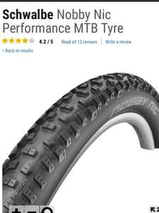 "Schwalbe nobby nic mountain bike mtb tyres 26x2.1"" or 26/650b/29 x 2.25"" only £11.99 each delivered @ crc chain reaction cycles"