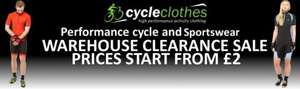 Tenn clothing outlet. Prices from £2 - Free delivery over £25 @ Cycleclothes