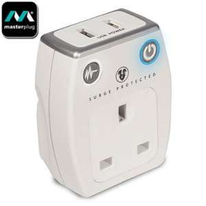 Masterplug Surge Protected 1A USB and Mains Charger - White £10.99 or Twin pack £18.99