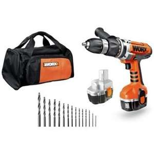 Worx 18V Hammer Drill with 2 Batteries, drill bits and carry bag £59.99 @ Argos