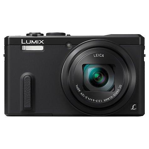 "Panasonic Lumix DMC-TZ60 Digital Camera, HD 1080p, 18.1MP, 30x Optical Zoom, Wi-Fi, NFC, GPS & GLONASS, EVF, 3"" Screen with FREE Tripod, Memory Card & Case £199 @ John Lewis"
