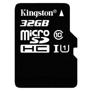 Kingston 32GB Micro SDXC Class 10 UHS-I Card (16GB for £3.46)  £5.78  kikatek