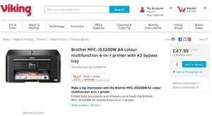 Brother MFC-J5320DW A4 colour 4-in-1 printer with A3 bypass tray £47.99 on Viking