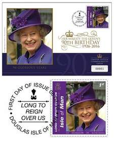 Own the new Queen Elizabeth II 90th Birthday Celebration First Day Cover with commemorative stamp £1.50 @ Westminstercollection.com