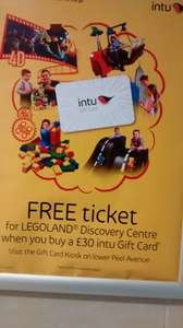 Buy a £30 Gift Card at Intu Trafford Centre and get a FREE ticket to LEGOLAND® Discovery Centre Manchester
