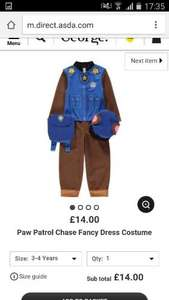 paw patrol chase outfit £14 @ George