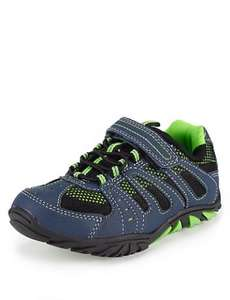 M&S small boys riptape and laceup trekker trainers £2.99 , size 5 only - Free c&c