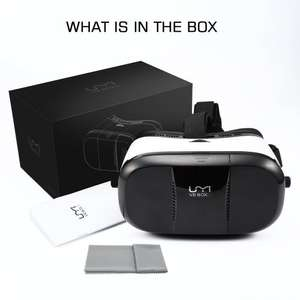 £11.99 (Prime) £15.98 (Non Prime) - 2016 UMI BOX 3 3D Glasses VR Headset VR Glasses Virtual Reality with Adjustable Lenses/Magnet Trigger/Head Strap for 3D Movies/Games Compatible screen size 4-6 inch Sold by UMI DIGI and Fulfilled by Amazon.