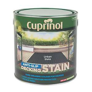 cuprinol anti-slip decking stain - urban slate £11.99 @ Screwfix free c&c