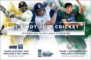 England v Sri Lanka (Day 4) Sun May 22nd over 50% OFF Day 3 prices: from just £5 @ Yorkshire CCC