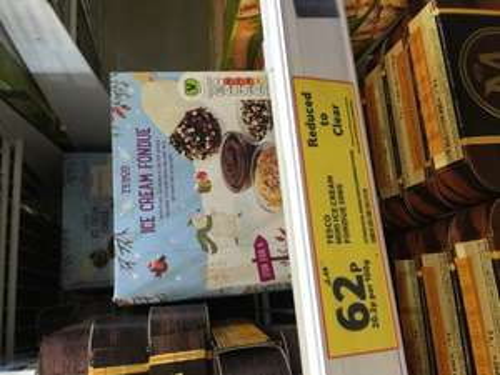 Tesco Mini Ice Cream Fondue 308G RRp £2.49 ( stratford-upon-avon )